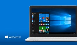 Windows 10 PC, logo, blue background