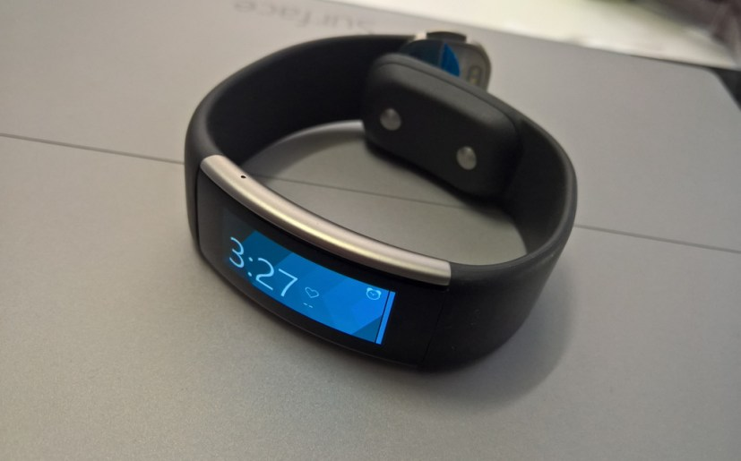 Microsoft Band 2 on top of Surface Pro 3