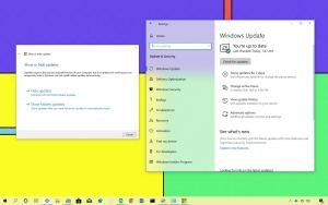 Show and hide updates on Windows 10