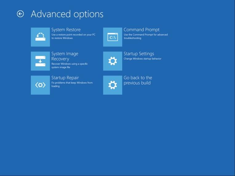 Advanced options (Advanced Startup)