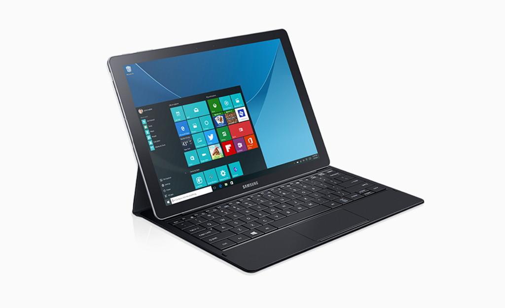 Samsung Galaxy TabPro S tablet running Windows 10