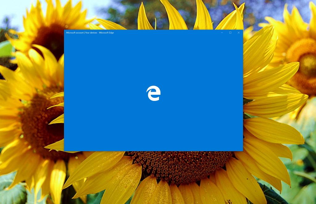 Microsoft Edge web browser for Windows 10 splash