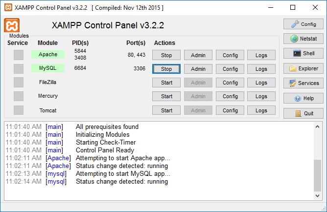 xampp free download for windows 10 64 bit