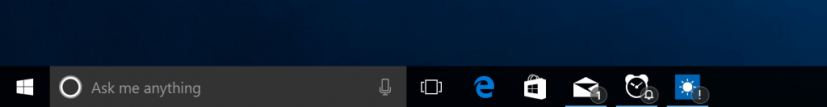 Taskbar apps badge notifications