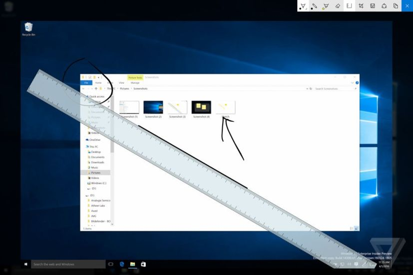Windows Ink ruler