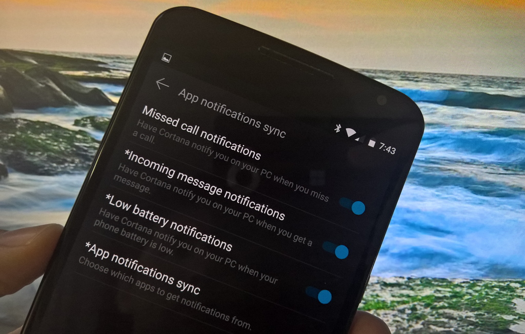 Android app notifications on Windows 10