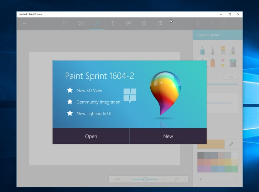 New Paint app for Windows 10