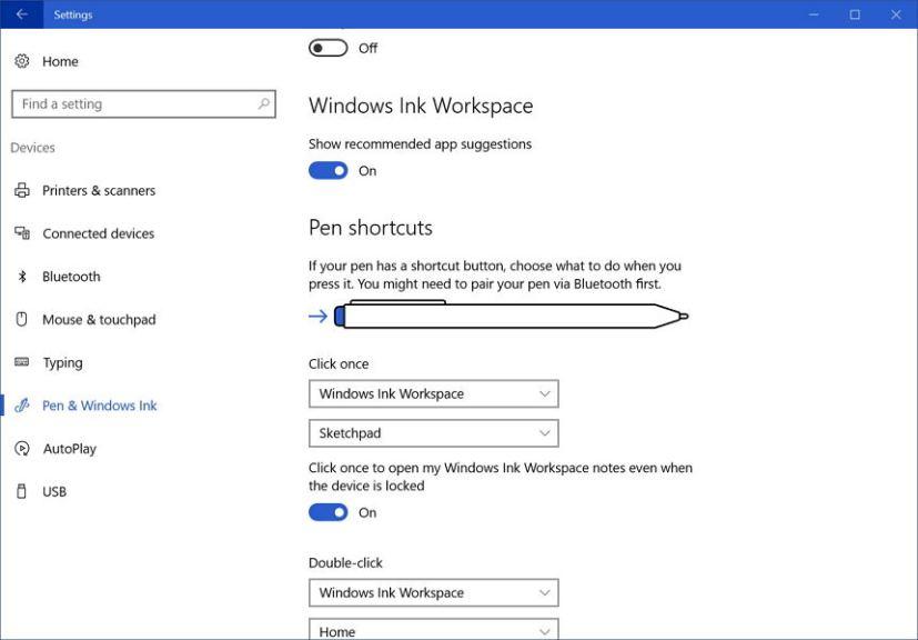 Windows Ink above Lock screen