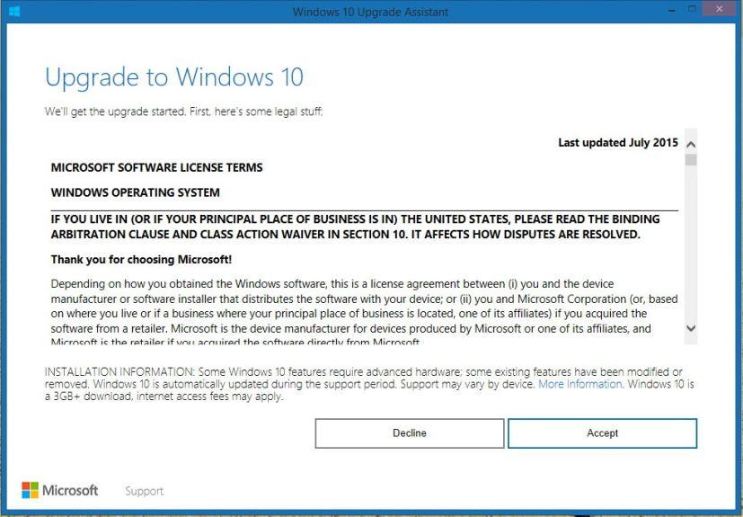 Windows 10 Upgrader