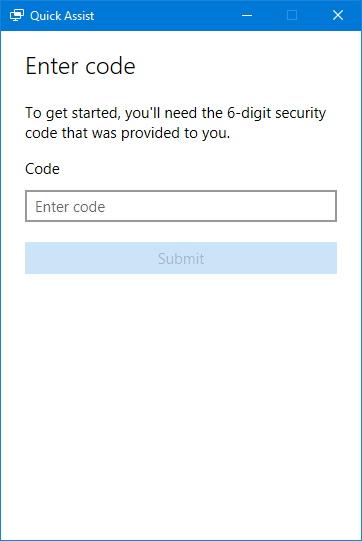quick-assist-enter-code