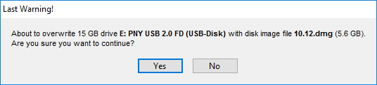 TransMac create macOS USB bootable drive warning