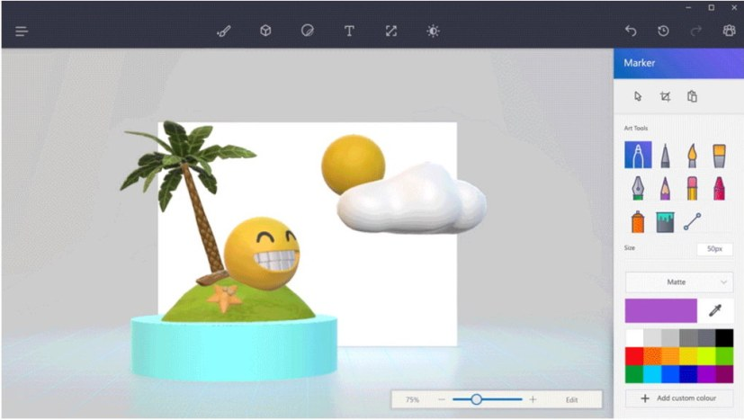 Paint 3D on Windows 10 Creators Update