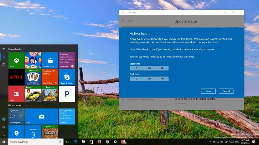 Windows 10 build 14942 (Redstone 2)
