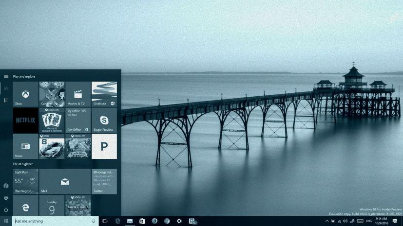 Windows 10 build 14942 on this Tech Recap