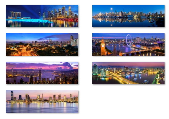 Cityscapes wallpapers for Windows 10 (panoramic)