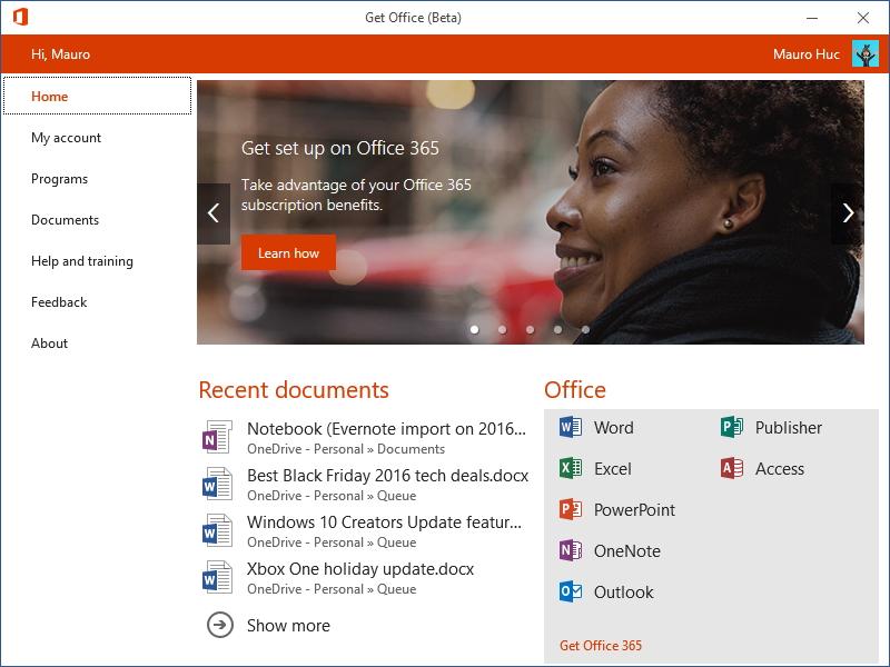 Get Office (beta) for the Windows 10 Creators Update