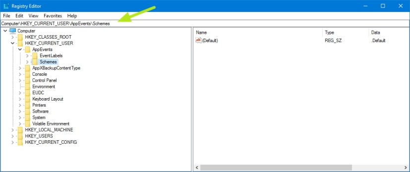 Registry address bar on Windows 10 Creators Update