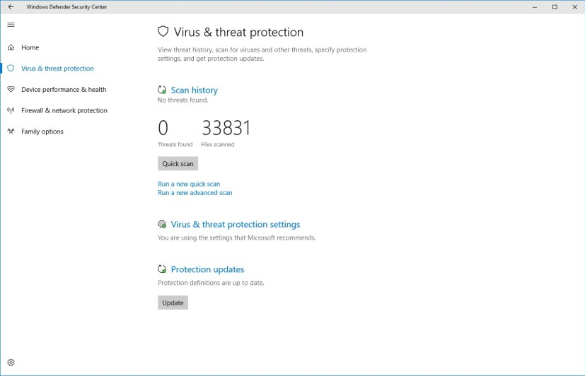 Virus & Threat Protection