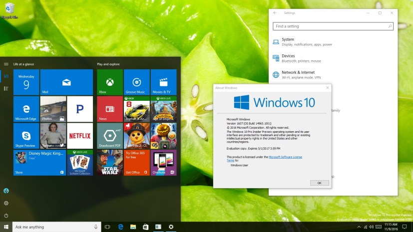Windows 10 build 14965