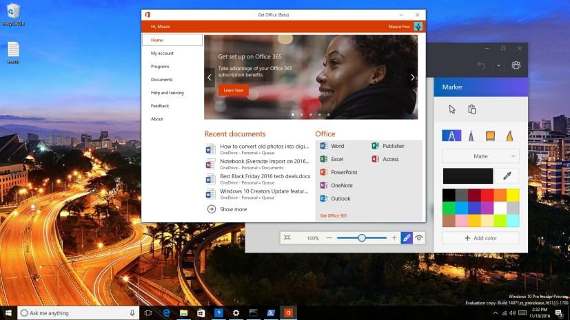 Windows 10 Creators Update build 14971 video tour