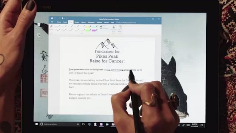 Word with new Windows Ink capabilities