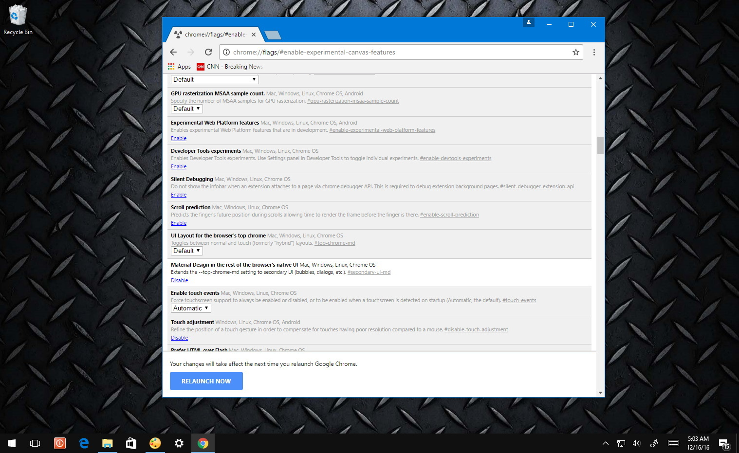Chrome using smaller UI