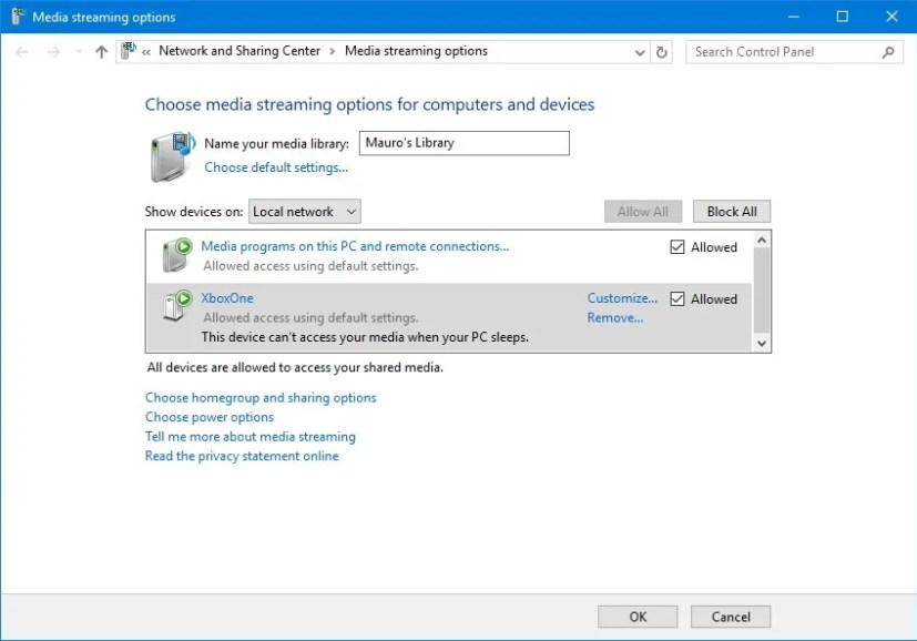 Windows 10 DLNA media server options