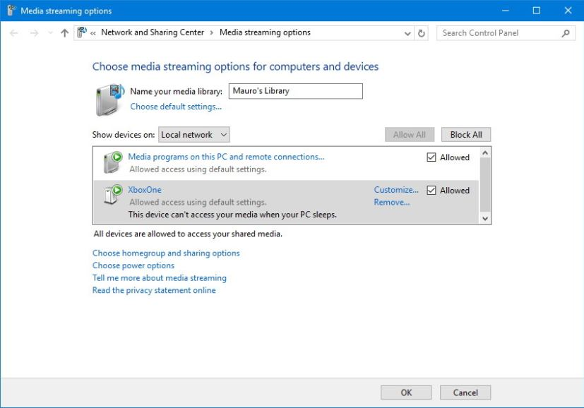 Windows 10 DLNA media server options
