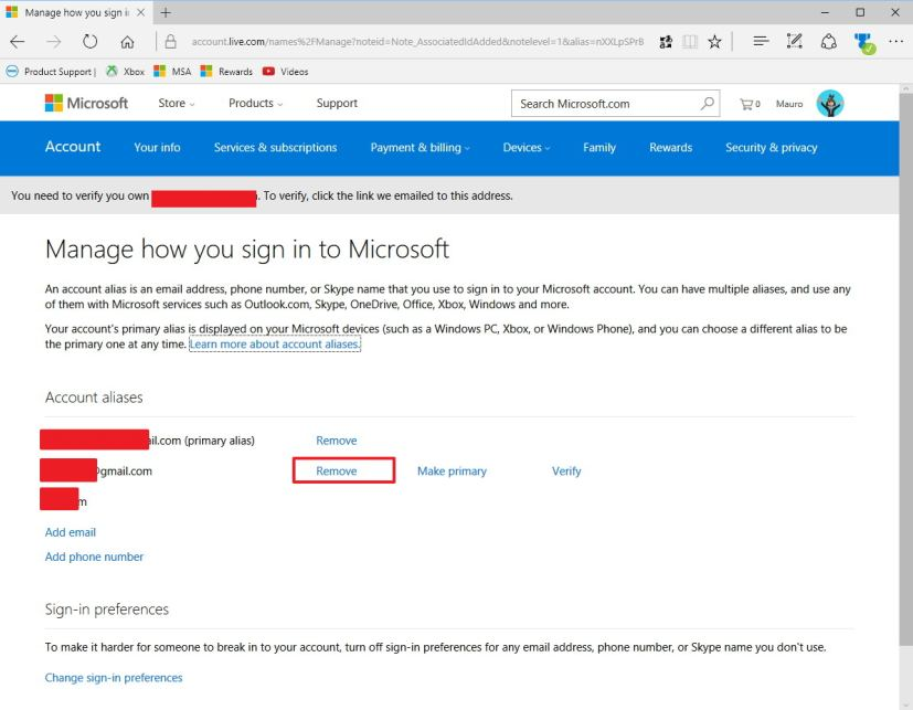 How to create and manage aliases on your Microsoft account