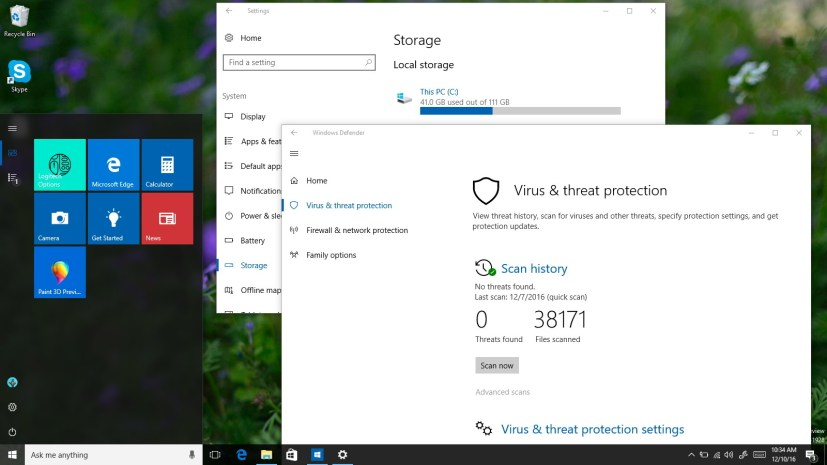 Windows 10 build 14986 video tour