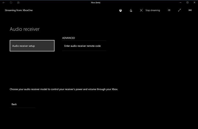 Xbox One Audio receiver setup