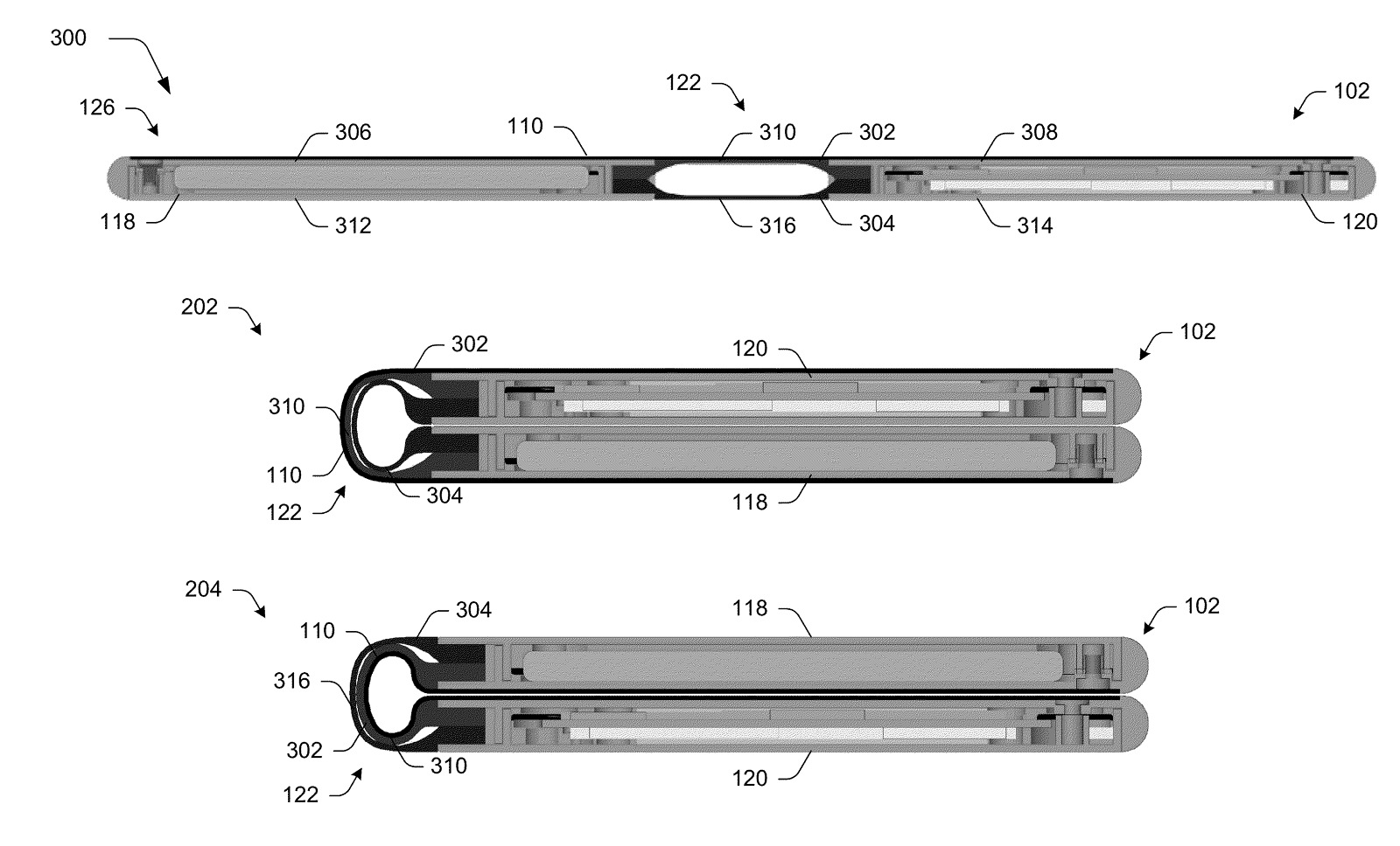 Microsoft foldable screen device (patent)