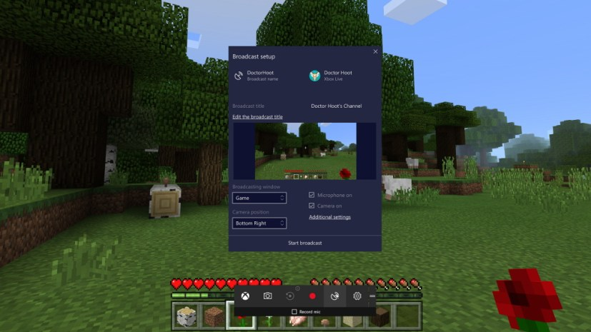 Beam controls on Windows 10