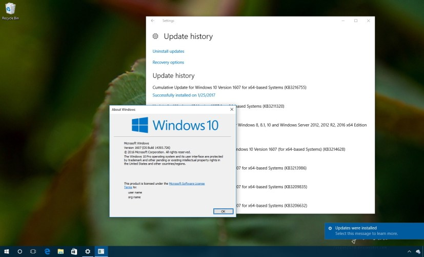 Windows 10 build 14393.726