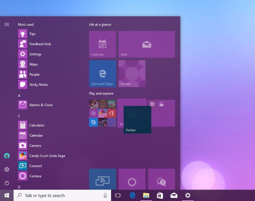 Create new Tile Folder in the Start menu