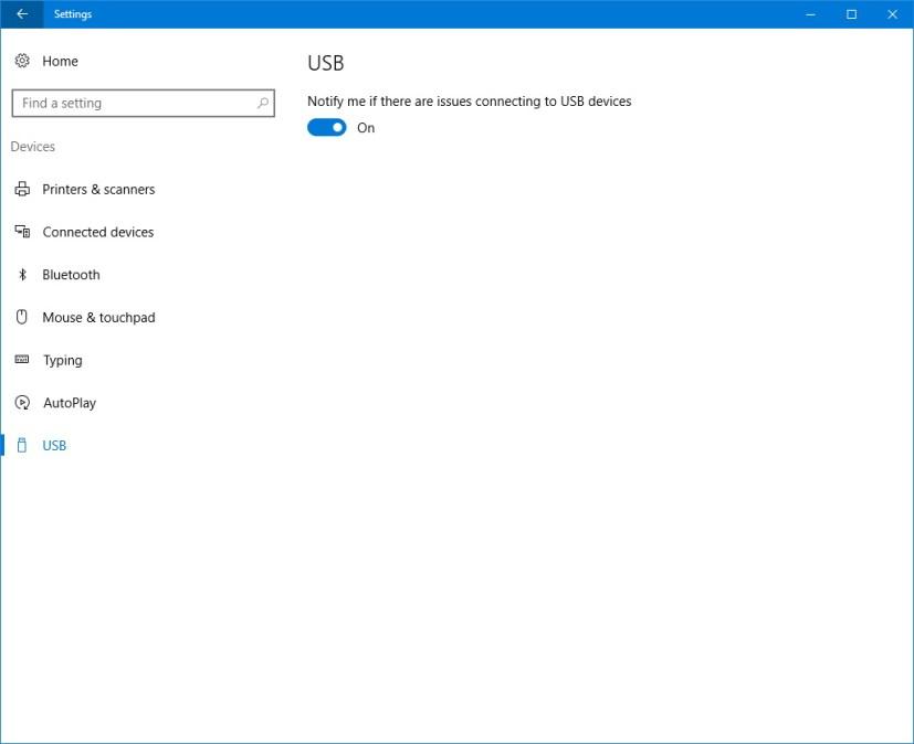USB customization settings