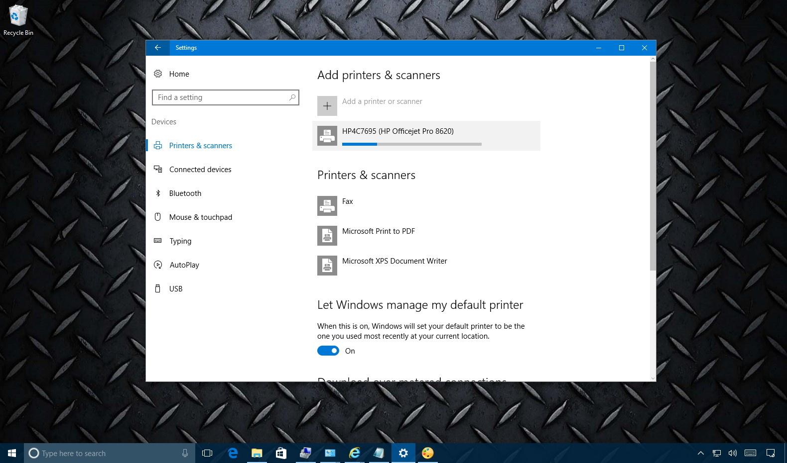 Install wireless printer on Windows 10