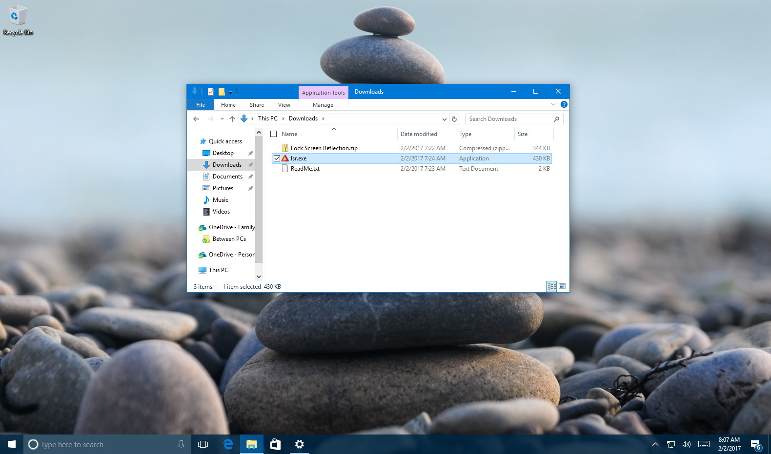 How to quickly set a Windows Spotlight image as your desktop