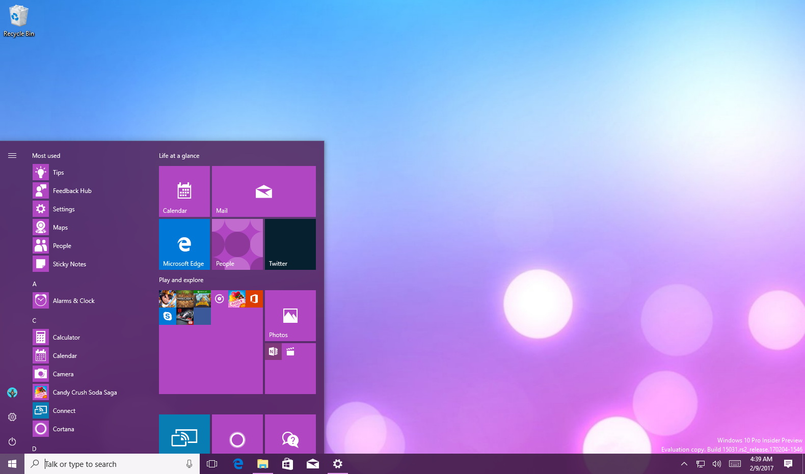 Start menu folders on Windows 10