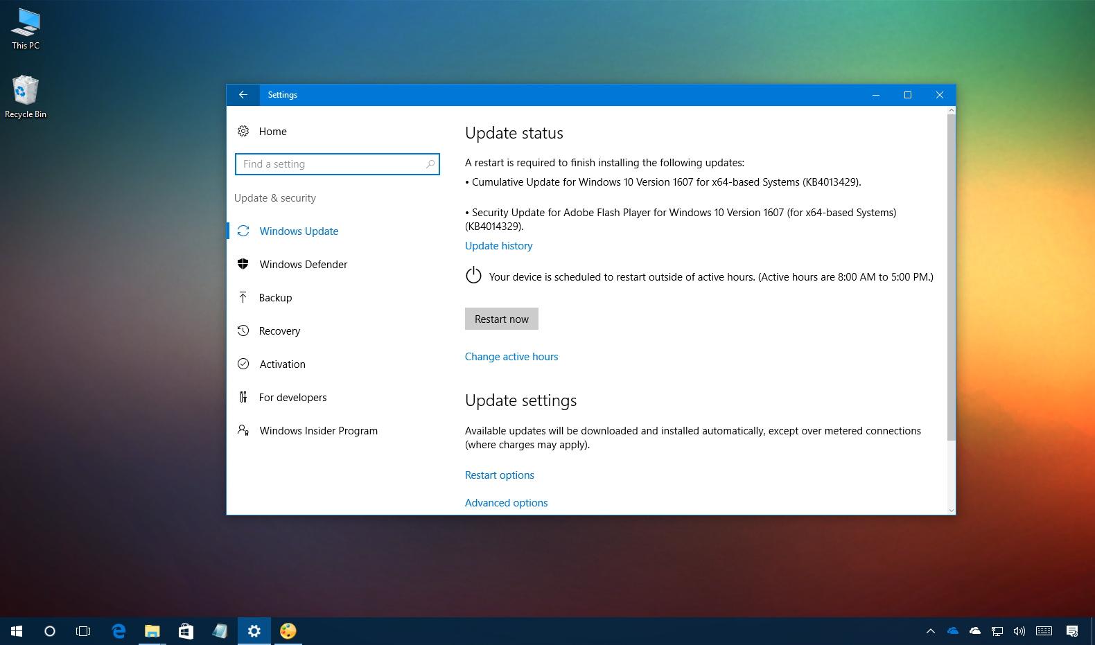 KB4013429 Windows 10 Update
