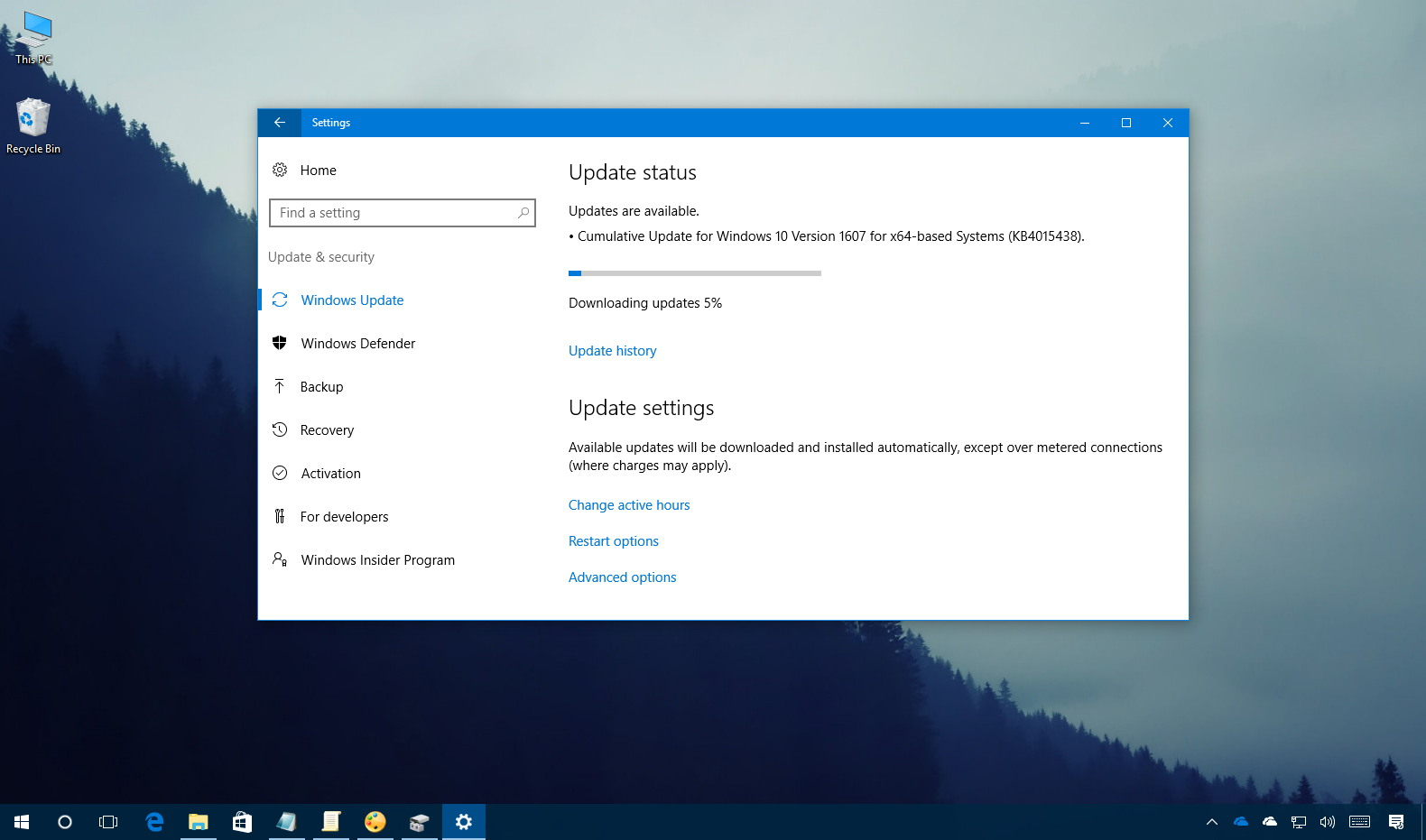 KB4015438 Windows 10 update