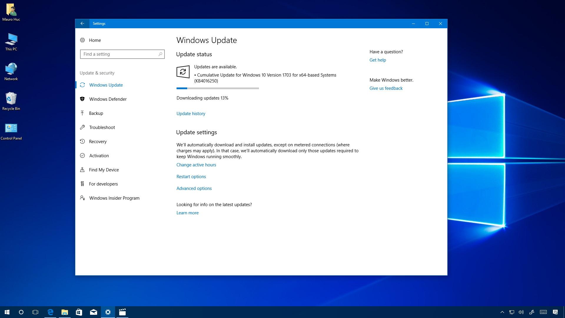 KB4016250 for Windows 10 Creators Update
