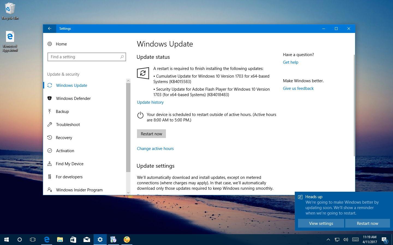 KB4015583 for Windows 10 version 1703