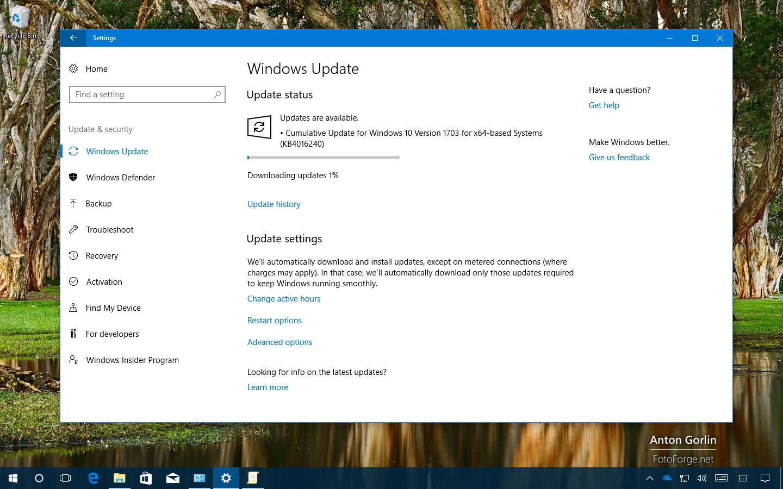 Update KB4016240 for Windows 10