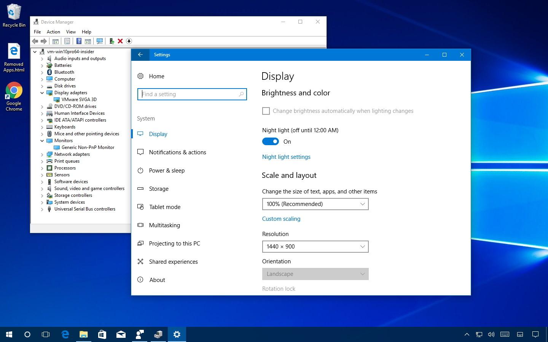 Fix Night light feature on Windows 10