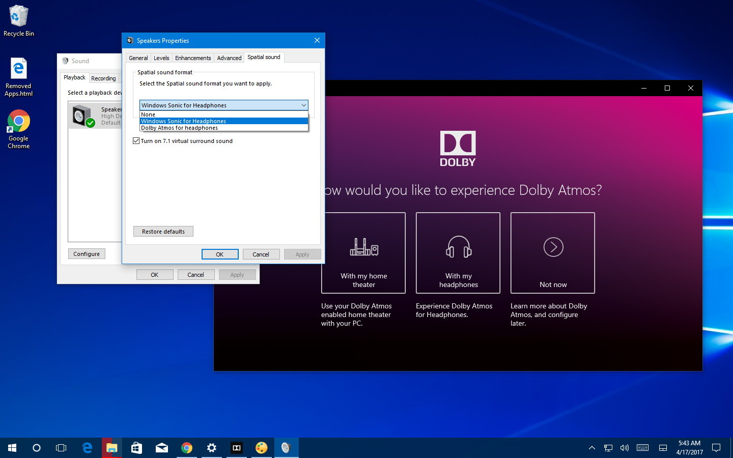 Dolby Atmos Access for Windows 10 Gaming