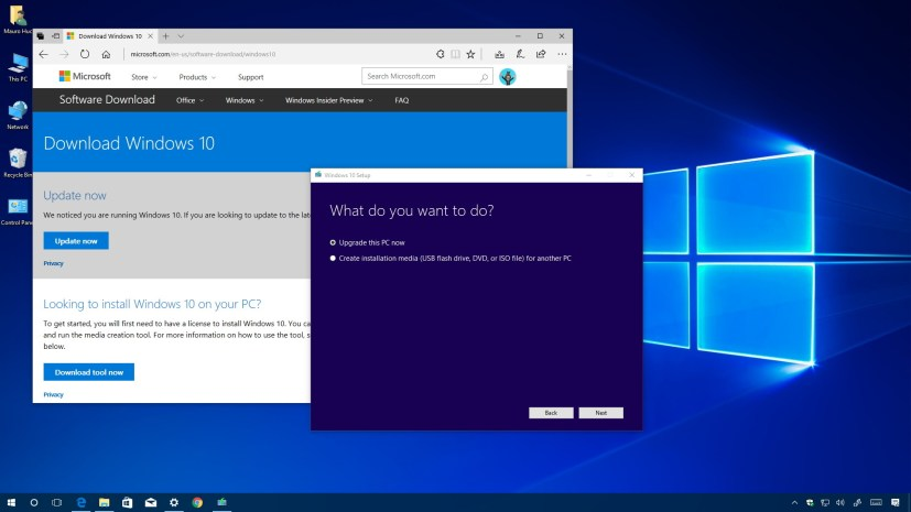 Windows 10 Creators Update download using Media Creation Tool