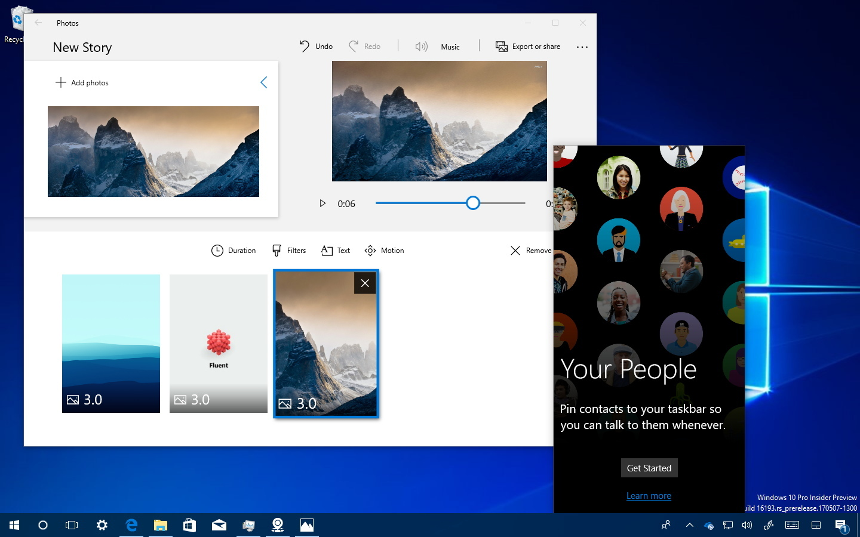 Windows 10 Fall Creators Update features