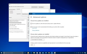 Windows 10 Fall Creators Update defer options