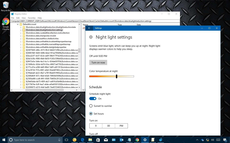 Fix Night light grayed out